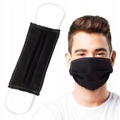 Ochranná rouška textilní dvouvrstvá SPRINGOS WIGOFIL černá