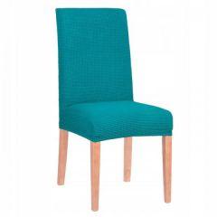 Potah na židli elastický SPANDEX PREMIUM zelená kostka