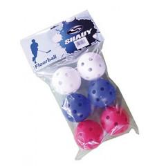 Florbalové míčky SPARTAN FLOW, 6 ks barevné