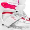 Spokey DUE 2IN1 Brusle bílo-růžové, regulovatelné, vel. 30-41