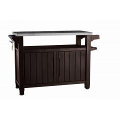 Grilovací stolek Keter UNITY XL 207L hnědý