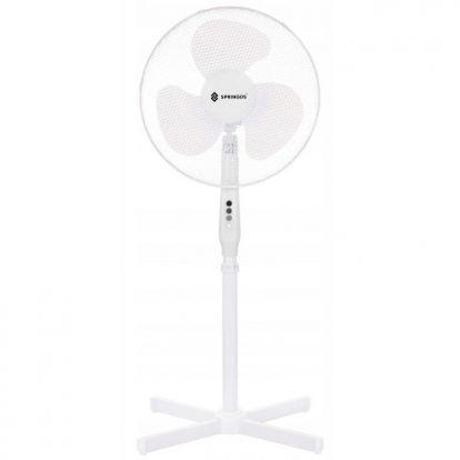 Stojanový ventilátor SPRINGOS FS200W bílý