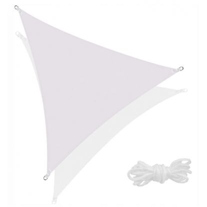 Stínící sluneční plachta 3x3x3 m světle šedá SPRINGOS