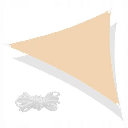 Stínící sluneční plachta 3x3x3 m béžová SPRINGOS