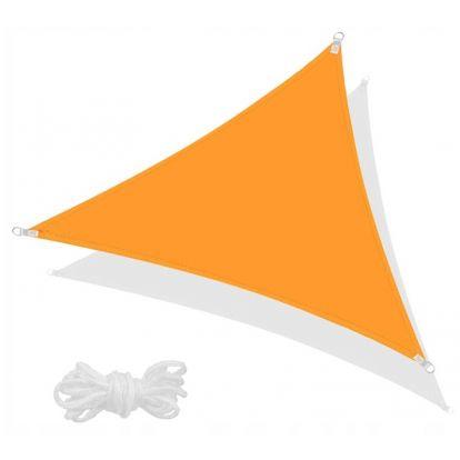 Stínící sluneční plachta 3x3x3 m oranžová SPRINGOS