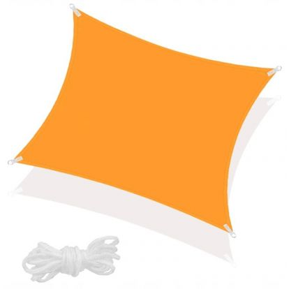 Stínící sluneční plachta 3x3 m oranžová SPRINGOS