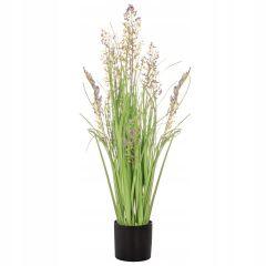 Umělá tráva s fialovými květy 78 cm