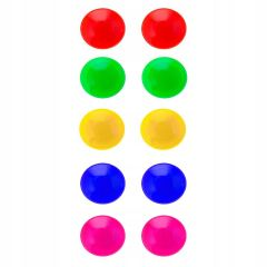 Sada barevných magnetů 30mm 10ks SPRINGOS