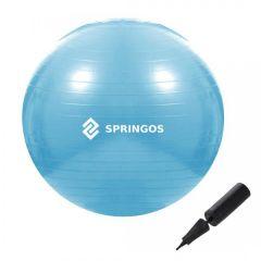 Gymnastický míč 55 cm + pumpička SPRINGOS DYNAMIC modrý