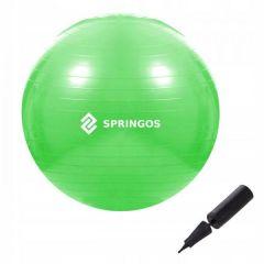 Gymnastický míč 65 cm + pumpička SPRINGOS DYNAMIC zelený