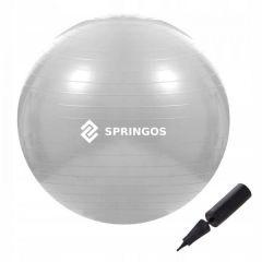 Gymnastický míč 75 cm + pumpička SPRINGOS DYNAMIC šedý