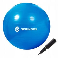 Gymnastický míč 85 cm + pumpička SPRINGOS DYNAMIC modrý