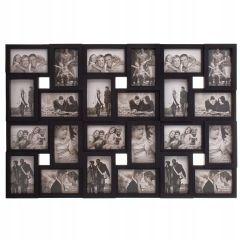 Fotorámeček na 24 fotek, 86x57 cm, černý SPRINGOS PANORAMA