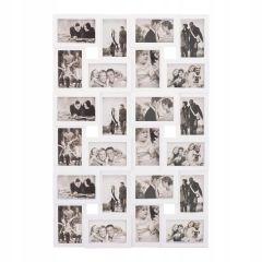 Fotorámeček na 24 fotek, 86x57 cm, bílý SPRINGOS PANORAMA