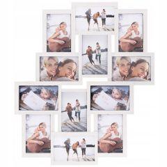 Fotorámeček na 12 fotek, 59x50 cm, bílý SPRINGOS PANORAMA