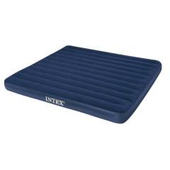 Nafukovací postel King Classic Downy Intex 68755 203x183x22cm - modrá