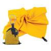 Spokey NEMO Rychleschnoucí ručník 40x40 cm, žlutý s karabinou