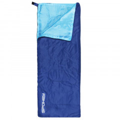 Spokey SUMMERTIME Spací pytel deka modrý, pravé zapínání