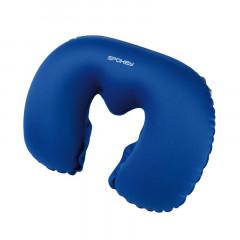 Spokey ENDER Cestovní polštářek nafukovací modrý