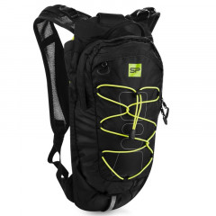 Spokey DEW Sportovní, cyklistický a běžecký batoh 15 l, černo-žlutý