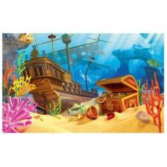 3D pozadí do akvária 40x25 cm GALLEON DIVERSA