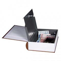 Trezor kniha, 240x165x55mm hnědá