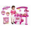 Dětská růžová kuchyňka G21 velká je vybavená spotřebiči, nádobím a jídlem. Malí kuchtíci budou vařit, péct, fritovat, mýt nádobí, zbytky dávat do koše a umyté nádobí uklízet. Spotřebiče nevydávají žádný zvuk. Vhodné pro děti od 3 let.