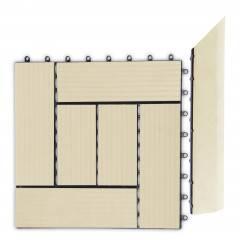 Přechodová lišta G21 Cumaru pro WPC dlaždice, 38,5 x 7,5 cm rohová (pravá)