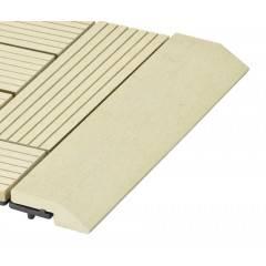 Přechodová lišta G21 Cumaru pro WPC dlaždice, 30 x 7,5 cm rovná
