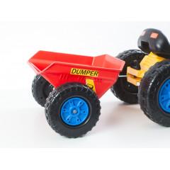 Hračka G21 vlečka k šlapacímu traktoru červená