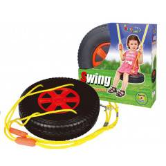 Hračka G21 Houpačka pneumatika kulatá černo-červená