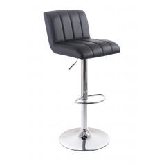 Barová židle G21 Malea koženková, prošívaná black