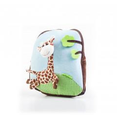 Hračka G21 Batoh s plyšovou žirafou, modrý