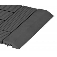 Přechodová lišta G21 Eben pro WPC dlaždice, 30 x 7,5 cm rovná