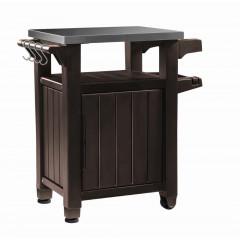 Grilovací stolek Keter UNITY 105L hnědý