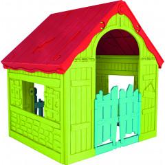 Zahradní domek Keter WONDERFOLD PLAYHOUSE červený / zelený / modrý