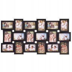 Fotorámeček na 18 fotek, 93x47 cm, černý SPRINGOS PANORAMA