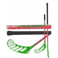 Florbalová hůl Sona Dynamic 95cm pravá zeleno/růžová