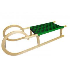 Sáně dřevěné Rohačky 110cm - zelená