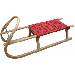 Dřevěné Sáně DI SULOV TATRA - 120 - červená