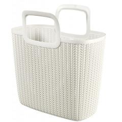 Curver Knit nákupní taška bílá