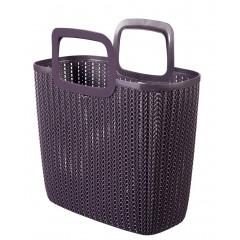 Curver Knit nákupní taška fialová