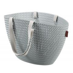 Curver KNIT taška Emily světle šedá/modrá