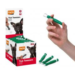 Karlie Kleště na klíšťata plastové zelené 1ks