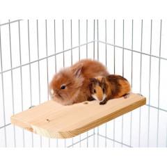 Karlie dřevěné patro/sedátko do klece pro hlodavce, 30x14x1,8cm