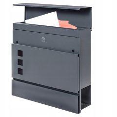 Poštovní schránka SPRINGOS LUCERN 37x37x11 cm antracit