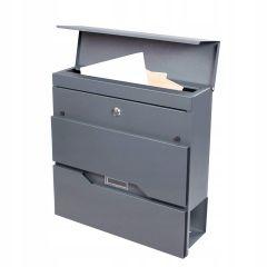 Poštovní schránka SPRINGOS TREVIR 37x37x11 cm antracit