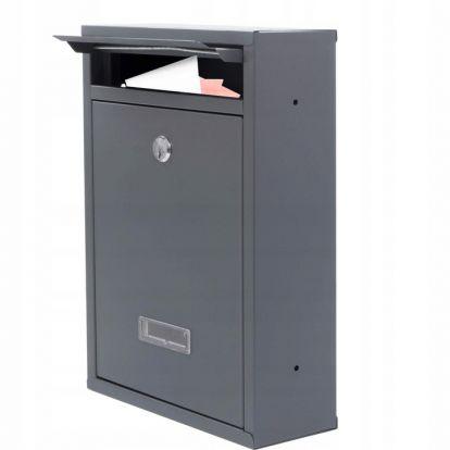 Poštovní schránka SPRINGOS KIEL 32x22x8 cm antracit