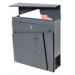 Poštovní schránka SPRINGOS BREST 37x37x11 cm antracit
