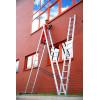 Hliníkový žebřík 3x10 příček třídílný DRABEST DW3-10 PRO